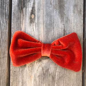 Burnt Orange Velvet Bow. For You or Your Pets.  Bowties, Headbands, Hair Clip Hair ties.