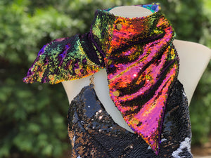 Purple Mermaid Flip Sequin Scarf