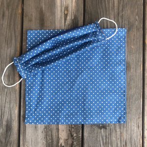 White Dots Print Pocket Square