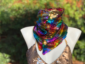 Rainbow Flip Sequin Scarf