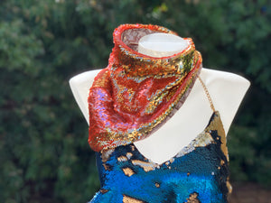 Pink and Gold Back Snap Bandana