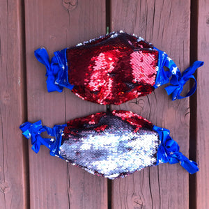 4th of July Flip Sequin Face Mask
