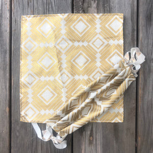Gold Deco Print Pocket Square