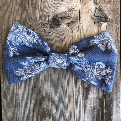 Jean Flowers Bow. For You or Your Pets.  Bowties, Headbands, Hair Clip Hair ties.