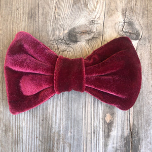 Velvet Clip-on Bow Ties.  Many colors for Adults and Children.