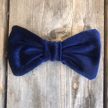 Navy Velvet Bow. For You or Your Pets.  Bowties, Headbands, Hair Clip Hair ties.