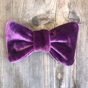 Purple Velvet Bow. For You or Your Pets.  Bowties, Headbands, Hair Clip Hair ties.