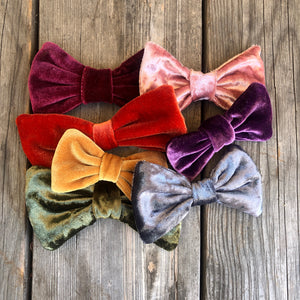 Velvet Maroon Velvet  Bow. For You or Your Pets.  Bowties, Headbands, Hair Clip Hair ties.