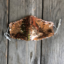 Custom Color Flip Sequin Fitted Mask