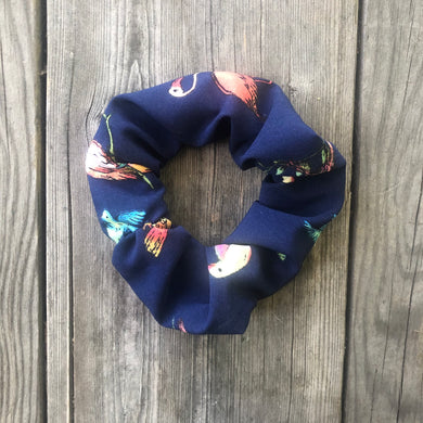 Tropical Birds Scrunchie