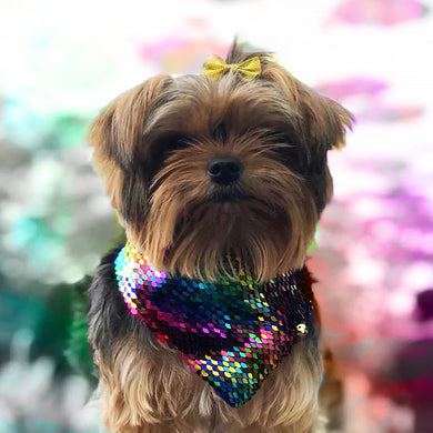 Rainbow Flip Sequin Pet Bandana.