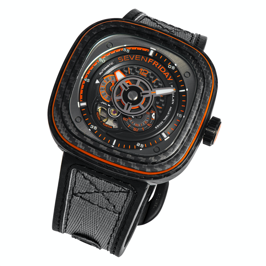 SEVENFRIDAY P3C/09 : ORANGE CARBON