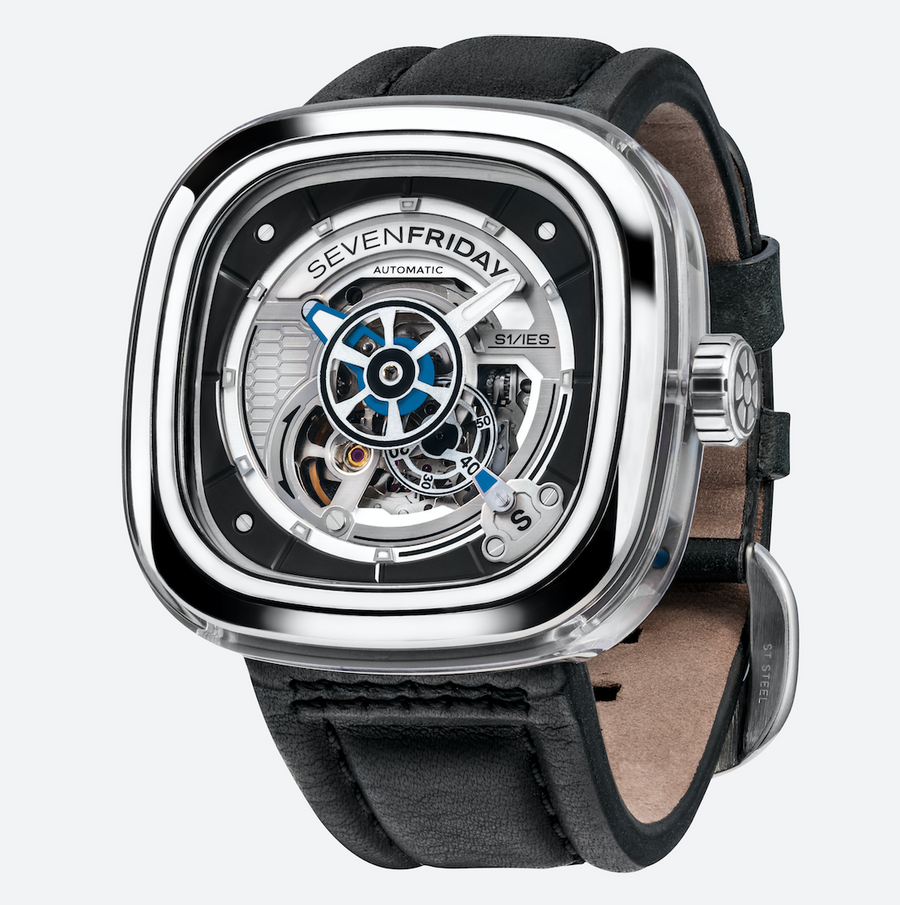 SEVENFRIDAY S1/01 CRYSTAL CLEAR - The Independent Collective Watches