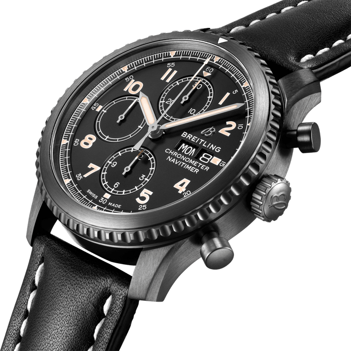 BREITLING NAVITIMER 8 BLACK STEEL EDITION