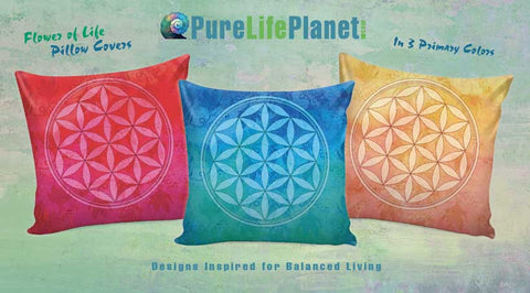 Flower of Life Pillow Covers