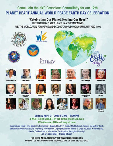 Earth Day NYC - Planet Heart, We the World, Vigil 4 Peace