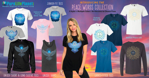 Peace Words Collection Tees