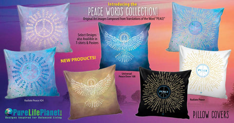 Peace Words Collection, Pillow Covers