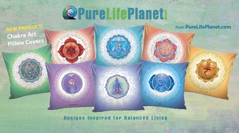 Chakra Lotus Collection Pillow Covers
