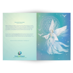 Sri Yantra Peace Angel - Greeting Cards