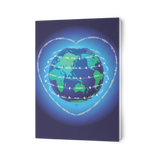 Peace Planet Heart Globe - Greeting Cards