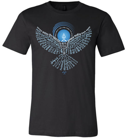 01-Universal Peace Dove 108 (OD) - Unisex Crew-Neck Short Sleeve T-Shirt