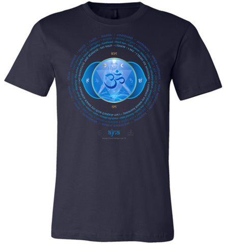 6th Chakra Third Eye Ajna Yogi Lotus - Unisex Crew-Neck Short Sleeve T-Shirt