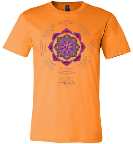 Ashtanga 8 Limbs of Yoga - Unisex Crew-Neck Short Sleeve T-Shirt