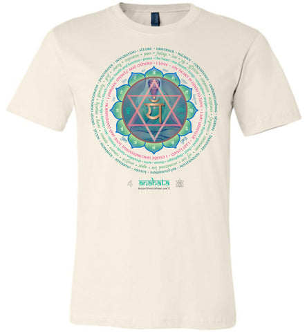 4th Chakra Heart Anahata Yogi Lotus -  Unisex Crew-Neck Short Sleeve T-Shirt