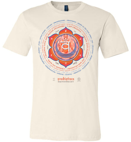 2nd Chakra Sex Svadhisthana Yogi Lotus - Unisex Crew-Neck Short Sleeve T-Shirt