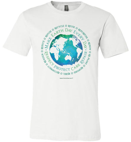 Make Earth Day Every Day - Unisex Crew-Neck Short Sleeve Tee