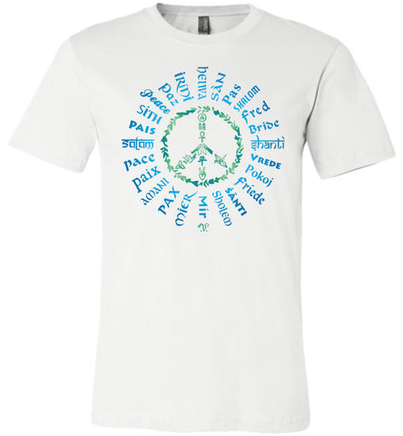 06-Radiate Peace 24 (B) - Unisex Crew-Neck Short Sleeve T-Shirt