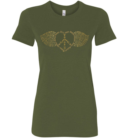 Winged Peace Heart of Gold - Junior fit short sleeve crew neck tee