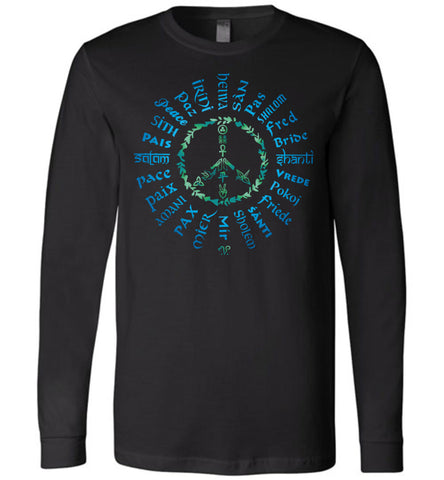 06-Radiate Peace 24 (B) - Unisex Long Sleeve Crew-Neck T-Shirt