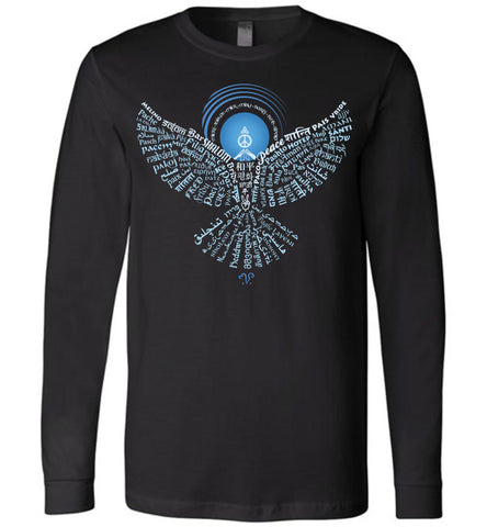 01-Universal Peace Dove 108 (OD) - Unisex Long Sleeve Crew-Neck T-Shirt