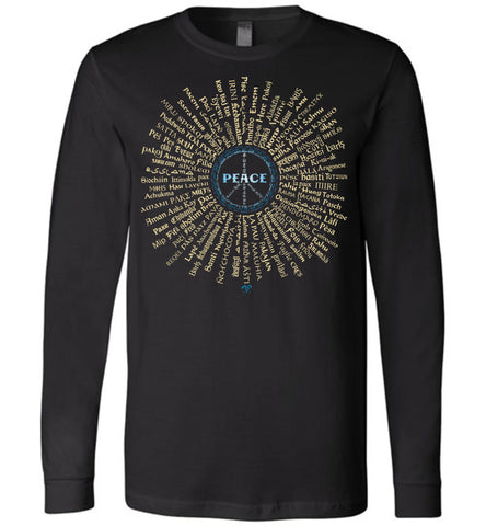 07-Radiate Peace (G) - Unisex Long Sleeve Crew-Neck T-Shirt