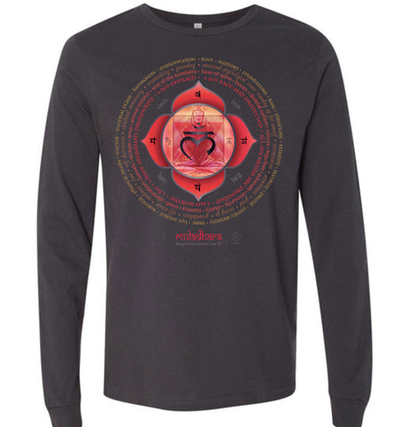 1st Chakra Root Muladhara Yogi Lotus - Unisex Long Sleeve Crew-Neck T-Shirt