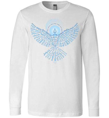02-Universal Peace Dove 108 - Unisex Long Sleeve Crew-Neck T-Shirt