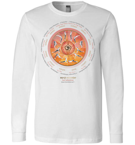 SuryaNamaskar-C Sun Salutation - Unisex Long Sleeve Crew-Neck T-Shirt