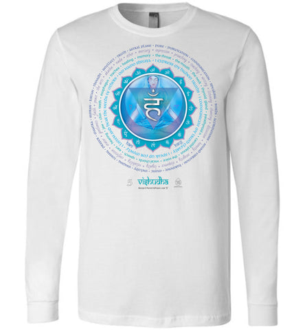 5th Chakra Throat Vishudha Yogi Lotus - Unisex Long Sleeve Crew-Neck T-Shirt
