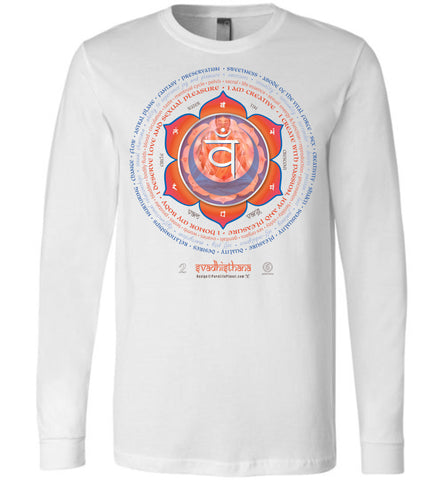 2nd Chakra Sex Svadhisthana Yogi Lotus - Unisex Long Sleeve Crew-Neck T-Shirt