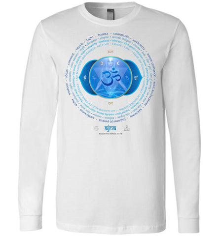 6th Chakra Third Eye Ajna Yogi Lotus - Unisex Long Sleeve Crew-Neck T-Shirt