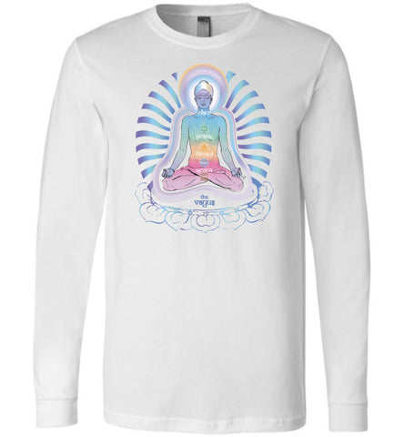 The 5 Pranic Vayus (Airs / Life-Force Flows) 2B - Unisex Long Sleeve Crew-Neck T-Shirt