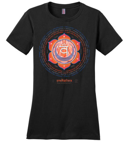 2nd Chakra Sex Svadhisthana Yogi Lotus - Ladies Crew-Neck Short Sleeve T-Shirt