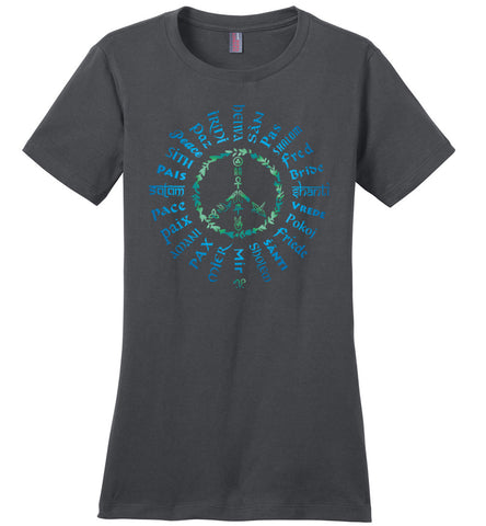 06-Radiate Peace 24 (B) - Ladies Crew-Neck Short Sleeve T-Shirt