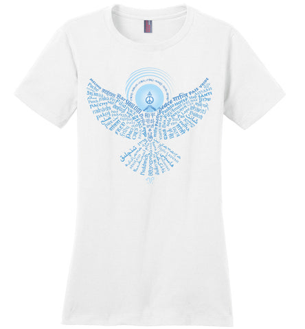 02-Universal Peace Dove 108 (OLT) Ladies Crew Neck Short Sleeve T-Shirt