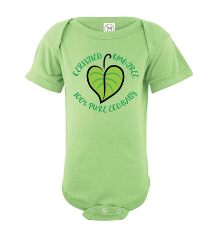 Certified GMO-Free 100% Pure Eco-Baby Short Sleeve Onesie