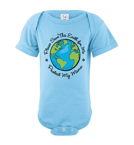 Save This Earth for Me - Short Sleeve Onesie