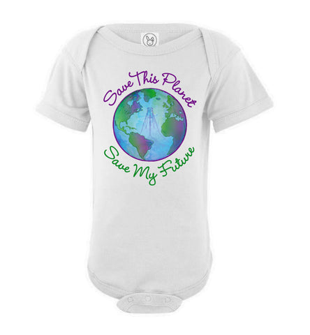Save This Planet Short Sleeve Onesie