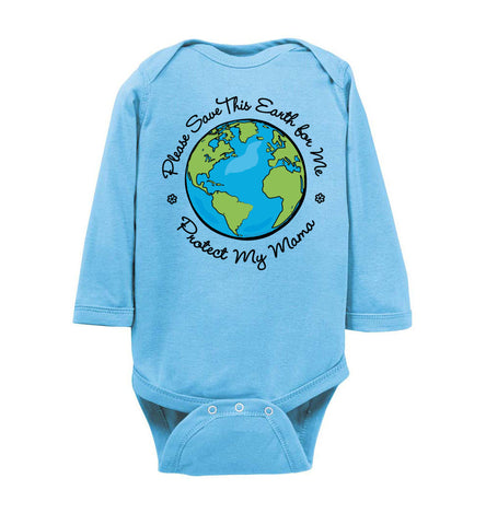 Save This Earth for Me - Long Sleeve Onesie